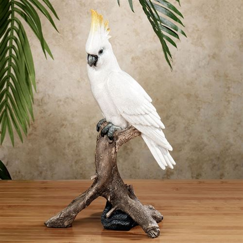 Tropical Friends Cockatoo Sculpture White