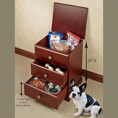 Pet Food Storage Unit Classic Cherry