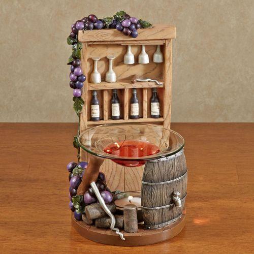 Wine Closet Tealight Oil Burner Natural Oak