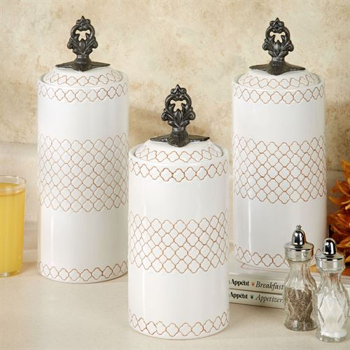Safiya Kitchen Canister Set White Set Of Three