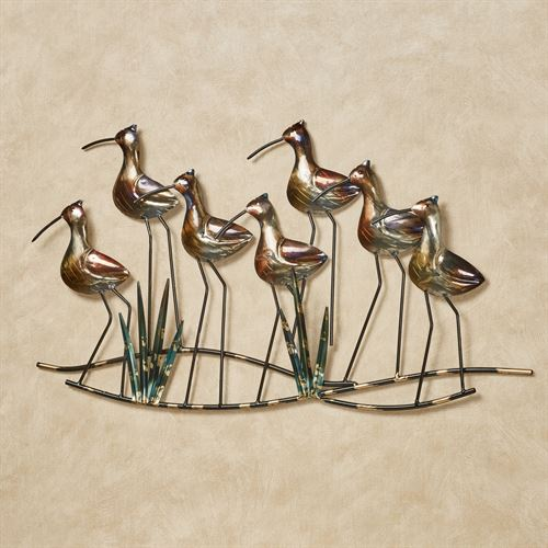 Exceptionnel Sea Birds Wall Art Gold/Black