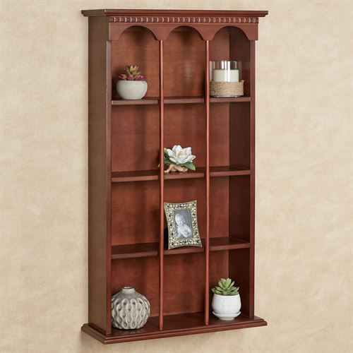 MacKenzie Vertical Curio Shelf Classic Cherry