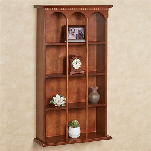 MacKenzie Vertical Curio Shelf Windsor Oak