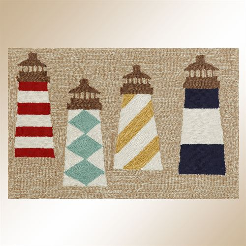 Lighthouse Rectangle Rug Natural
