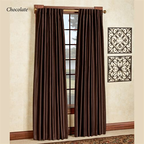 Ming Back Tab Wide Curtain Pair