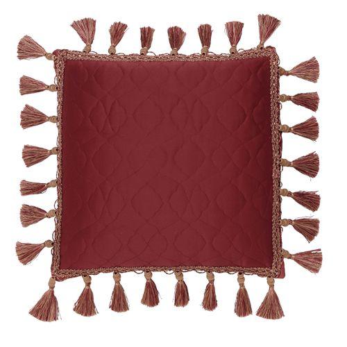 Valentina Quilted Pillow Claret 16 Square