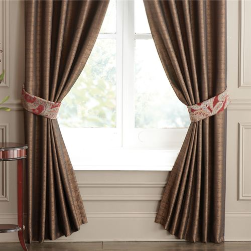 Valentina Tailored Curtain Pair Claret 82 x 84