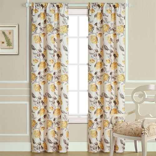 Hydrangea bloom floral curtains by laura ashley hydrangea bloom curtain pair light almond 72 x 84 mightylinksfo