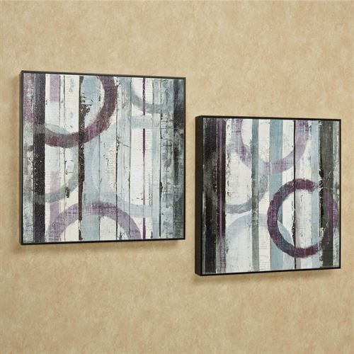 Contempo Haze Wall Art Black Set of Two