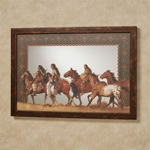 Return of the Stolen Ponies Framed Wall Mirror Multi Warm