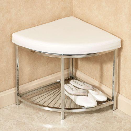 Olivier Upholstered Corner Vanity Stool