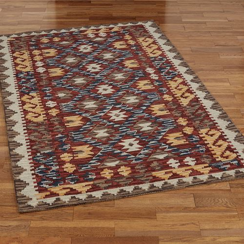 Caldera Rectangle Rug Red