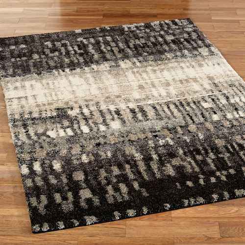 City Drizzle Rectangle Rug Slate Gray