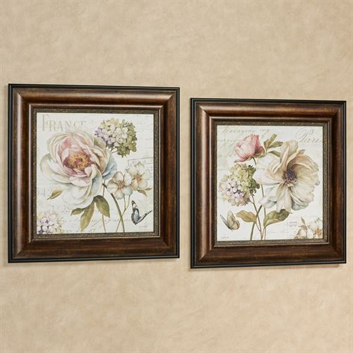 Marche de Fleurs Pictures Multi Pastel Set of Two