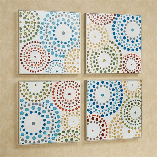 Rainbow Attraction Wall Art Multi Bright Set of Four