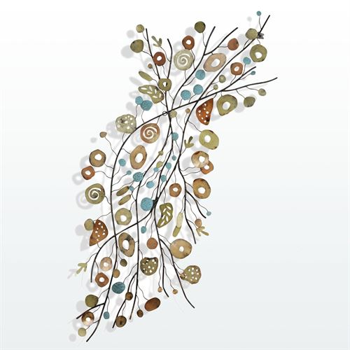 Fruitful Branches Metal Wall Sculpture Multi Earth
