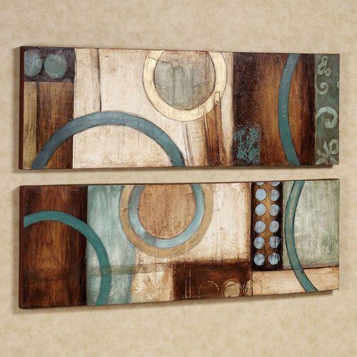 Lavare Canvas Art Set Aqua