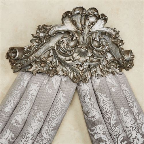 Alexandrine Wall Teester Bed Crown Aged Silver