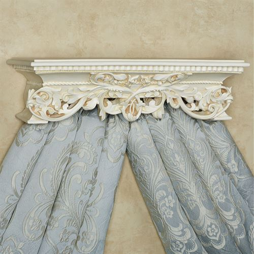 Adela Wall Teester Bed Crown Antique Ivory