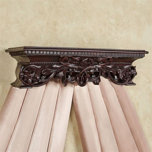 Adela Wall Teester Bed Crown Rich Mahogany