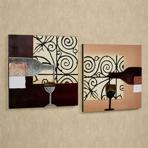 Vetro di Vino in Italia Wall Art Set Merlot