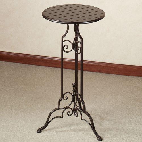 Lacole Pedestal Table Antique Bronze