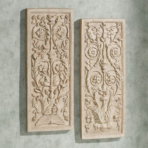 Charis Wall Plaque Set Antique Ivory Set of Two