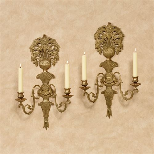 Jaida Double Taper Wall Sconce Satin Brass