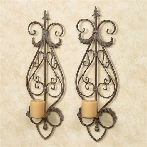 Pedraza Wall Sconces Cocoa Pair