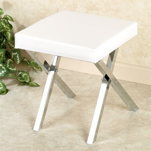 Folding Vanity Stool Chrome