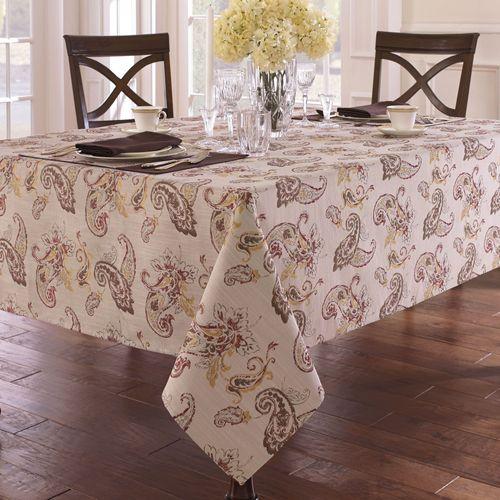 Leila Oblong Tablecloth Chocolate