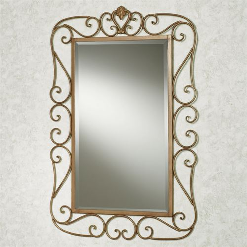 Aldabella Wall Mirror Satin Gold