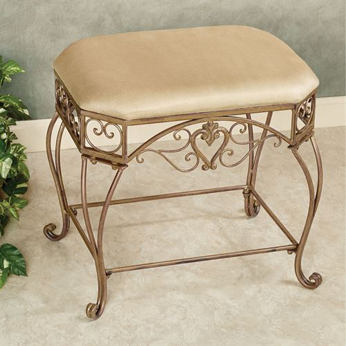Aldabella Vanity Bench Satin Gold