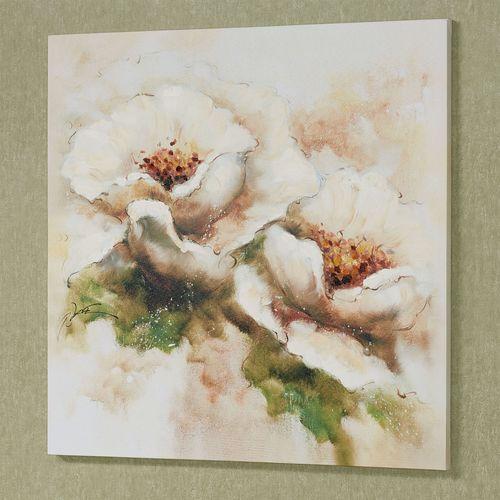 Beauties in Bloom Canvas Wall Art Cream