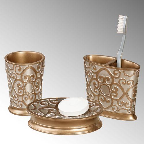 Allure Soap Dish Silver Gold