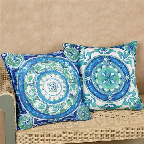 Medallion Art Decorative Pillows Multi Cool Set of Two