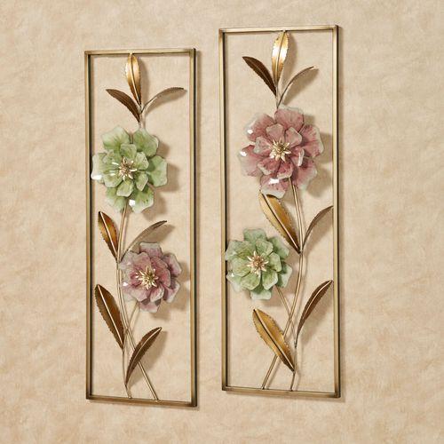 Cordial Rose Wall Art Celadon Set of Two