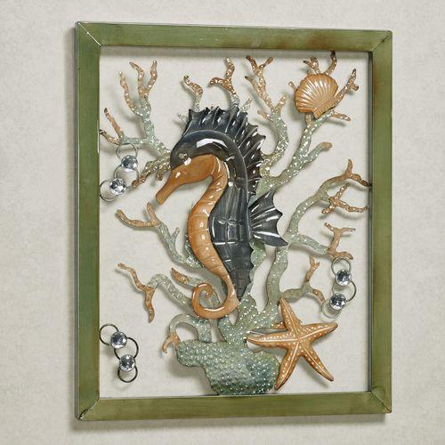 Seahorse Whispers Wall Art Aqua Mist