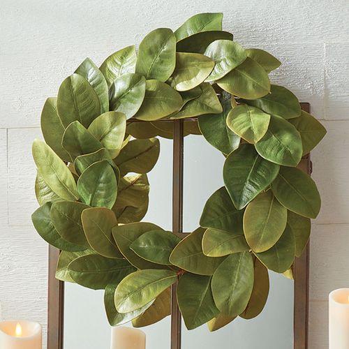 Magnolia Leaf Wreath Green
