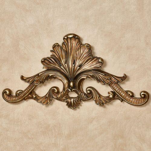 Arellia Decorative Wall Topper Aged Gold