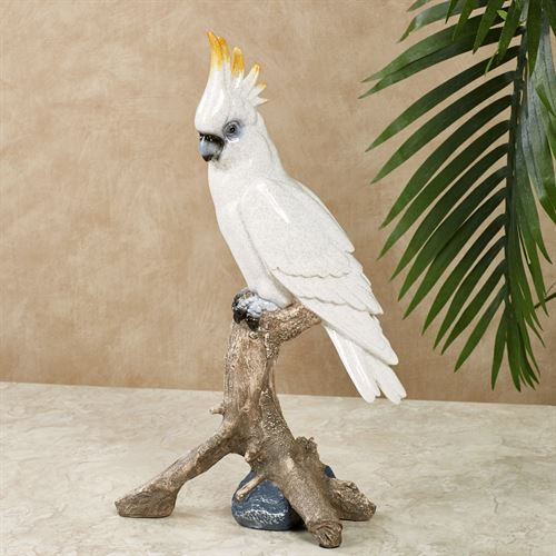 cockatoo parrot table sculpture
