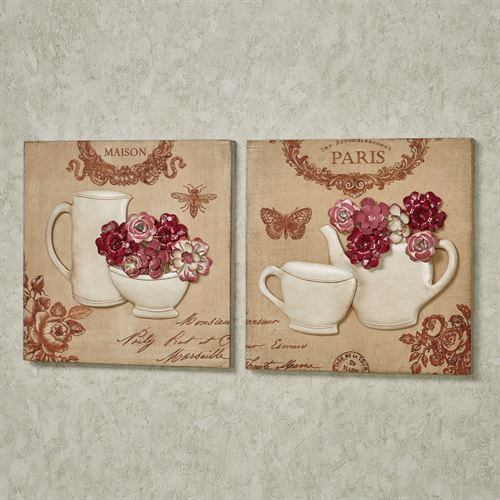Morning Delights Wall Art Pink Set of Two