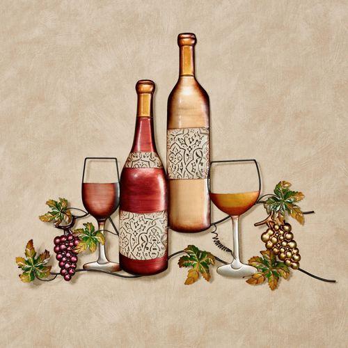 Wine Varieties Metal Wall Art