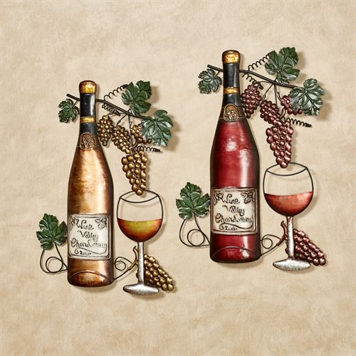 Wine Selection Metal Wall Art Set