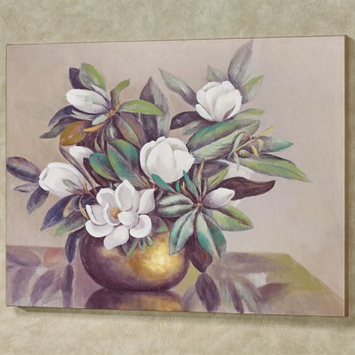 Blossoms of Magnolias Canvas Wall Art Multi Cool
