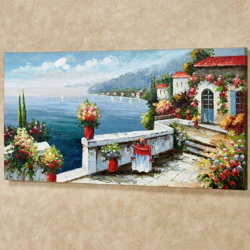 Serene Sorrento Canvas Wall Art Multi Warm