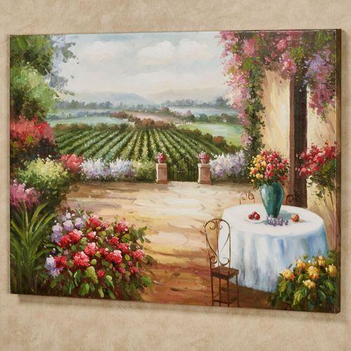 Under the Tuscan Sun Canvas Wall Art Multi Warm