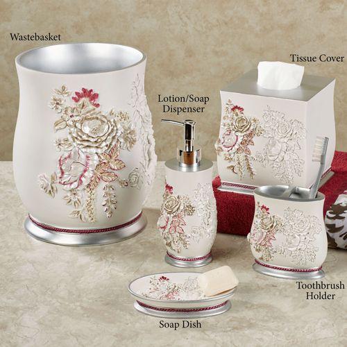 Secret Garden Lotion Soap Dispenser Ivory
