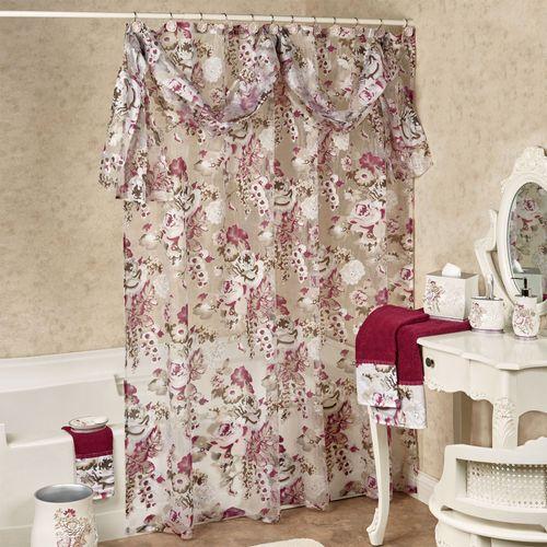 Secret Garden Semi Sheer Shower Curtain Ivory 72 x 72