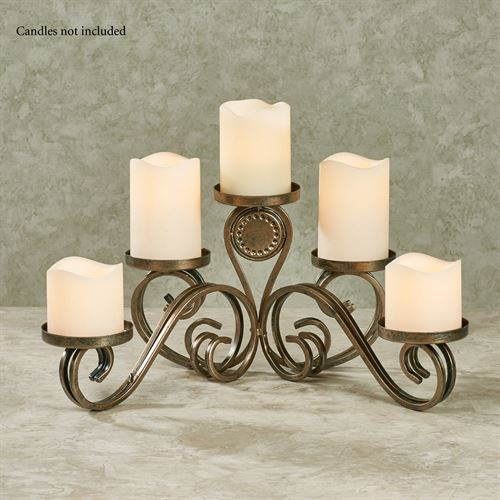 Lainey Tabletop Candelabra Autumn Gold